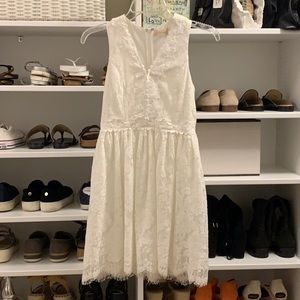 altar'd state white floral lace dress
